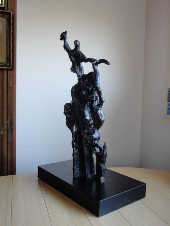 Original Jacques Lipchitz bronze with dark patina (French 1891-1973). Signed bearing the artists Thumbprint and incised 2/7.