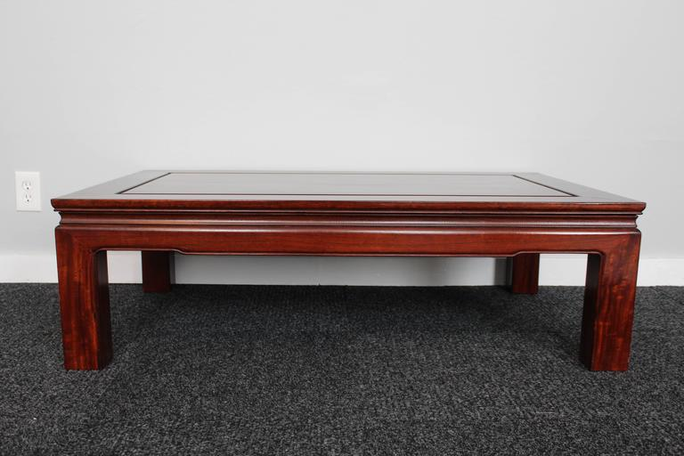 Mid-Century Chinese Rosewood Coffee Table 3