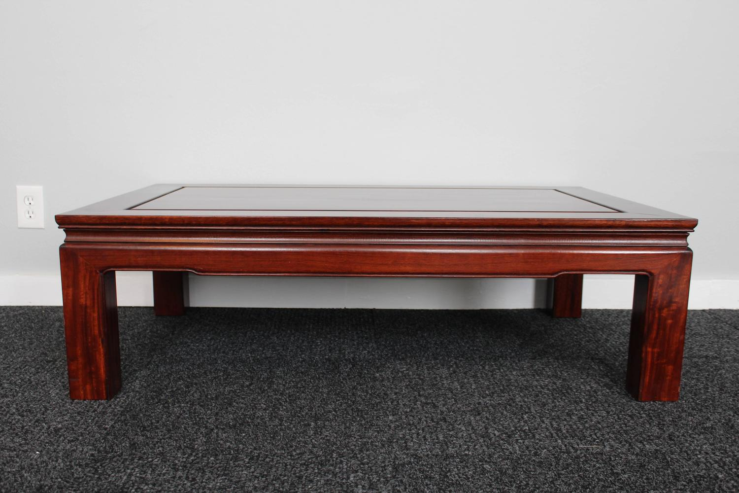 Mid Century Chinese Rosewood Coffee Table For Sale At 1stdibs