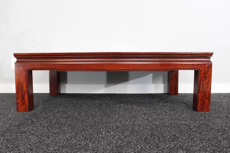 Mid-20th Century Mid-Century Chinese Rosewood Coffee Table For Sale
