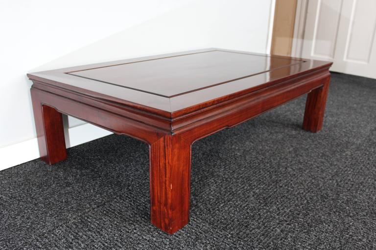 Mid-Century Chinese Rosewood Coffee Table For Sale 1