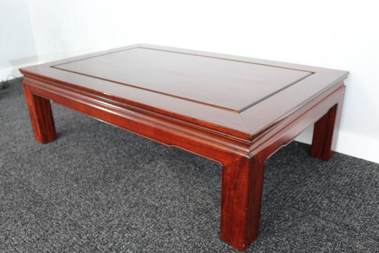 Mid-Century Chinese Rosewood Coffee Table For Sale 2