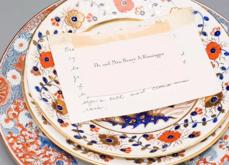 2 Imari Plates and A Chinese Export Plate Gifted To Shirley Temple By  Kissinger