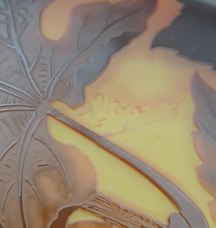 D Argental Art Nouveau Cameo Hanging Chandelier Lamp