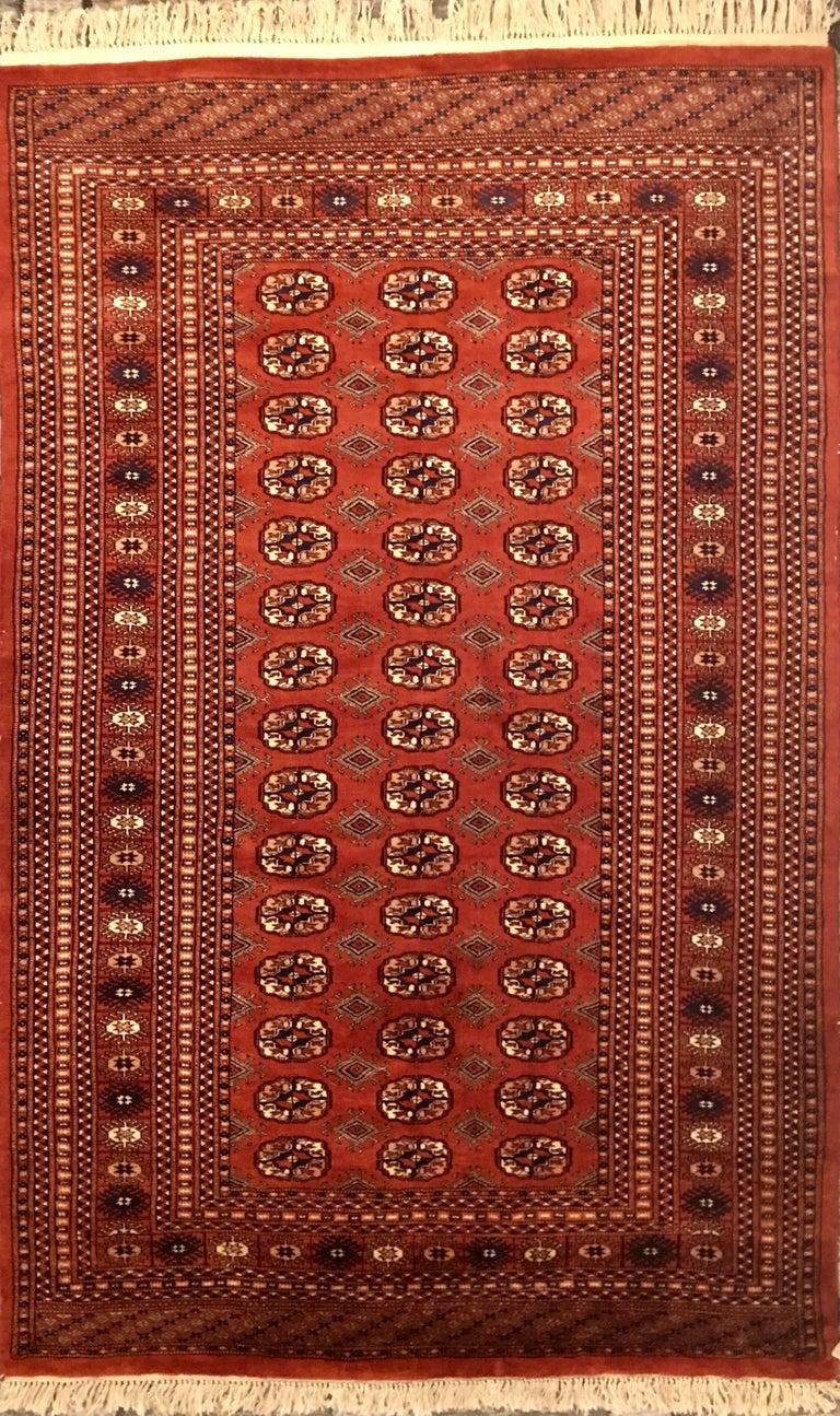 Bokhara Turkaman Tekke Handwoven Silk And Wool Rug At 1stdibs