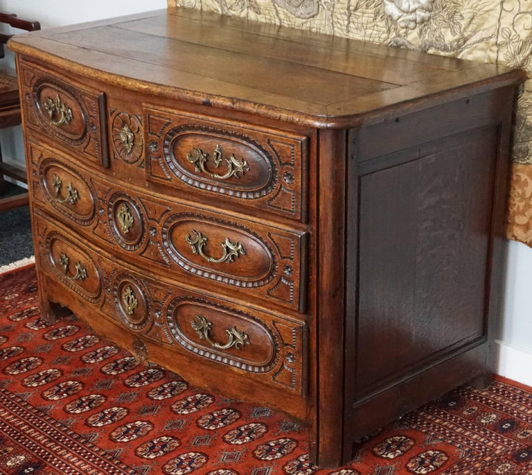 Late 18th Century Louis XV French Provincial Oak 18th Century Commode Chest