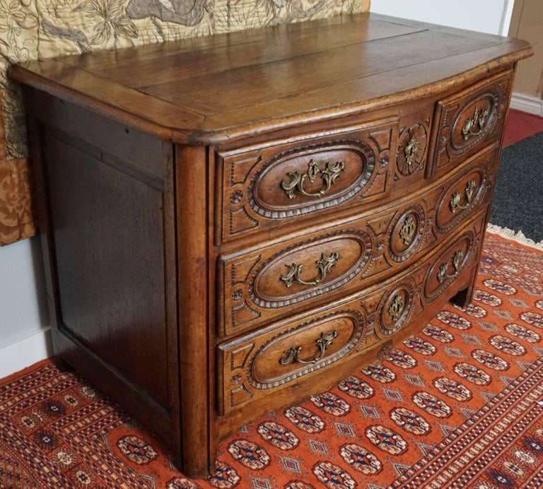 Louis XV French Provincial Oak 18th Century Commode Chest 1