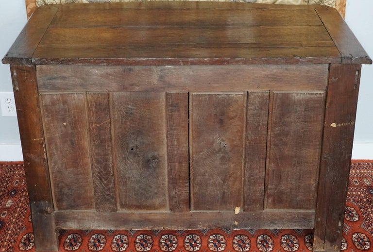 Louis XV French Provincial Oak 18th Century Commode Chest 4