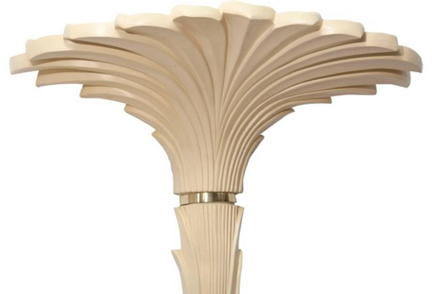 Wall Torchiere Lamps : Pair of Torchiere Roche Style Palm Tree Floor and Wall Lamps by Merle Edelman For Sale at 1stdibs