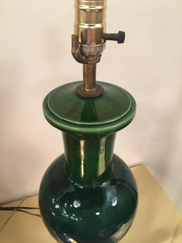 Drip Glaze Blue And Green Table Lamp Mid Century Modern
