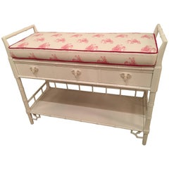 Faux Bamboo Baby Changing Table Lilly Pulitzer Elephant Pink Lacquered Girl