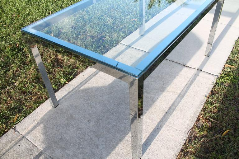 Midcentury Chrome Table and Six Chairs Dining Set by Milo Baughman for DIA For Sale 4