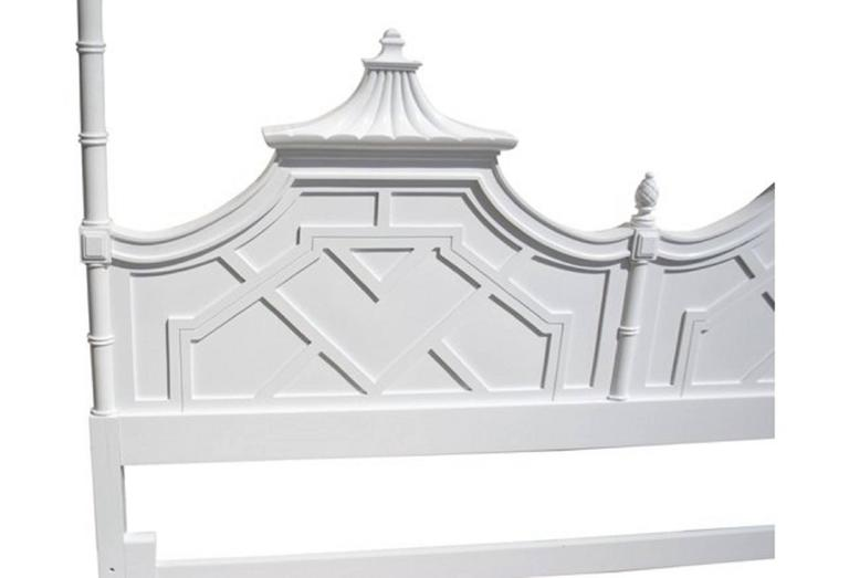 Hollywood Regency Thomasville Paa Chinese Chippendale King Size Headboard Chinoiserie Lacquered For