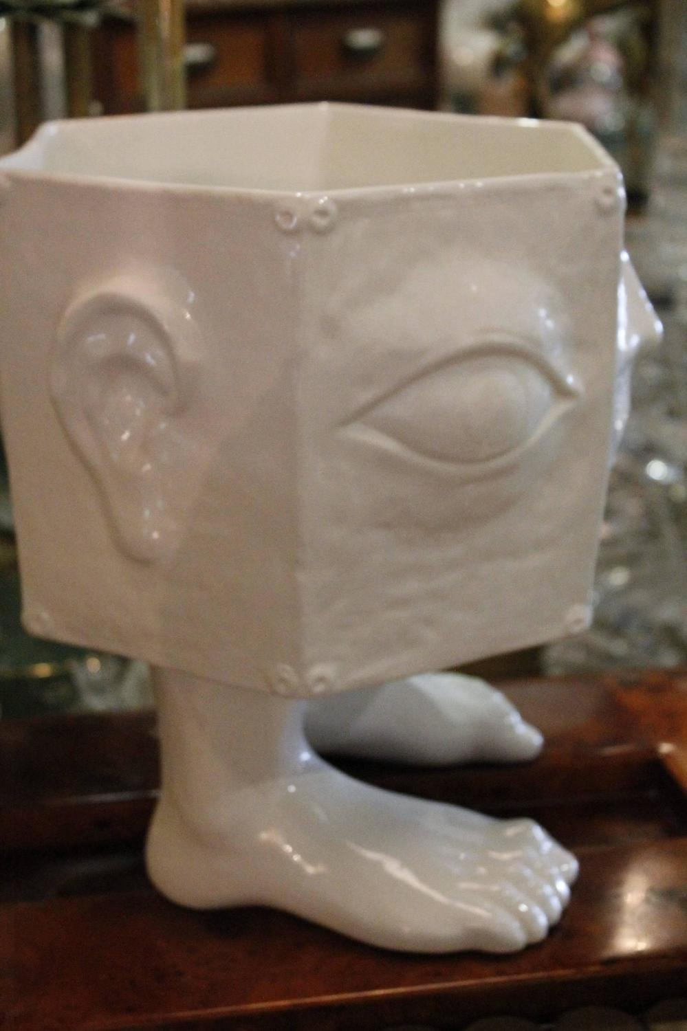 Italian Taste Setter Sigma Face Pottery Head Feet Ceramic