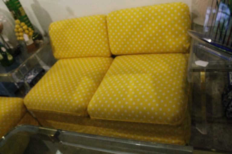 Upholstery Thayer Coggin Pair of Slipper Sofas or Loveseats by Milo Baughman For Sale