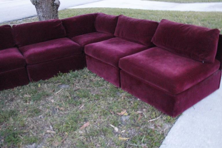 Milo Baughman for Thayer Coggin Tagged Nine Piece Sectional Sofa Couch Vintage 4