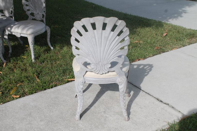Six Brown Jordan Grotto Side Dining Outdoor Patio Chairs
