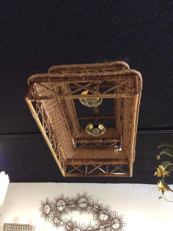 Vintage Pagoda Rattan Wicker Tortoiseshell Bamboo