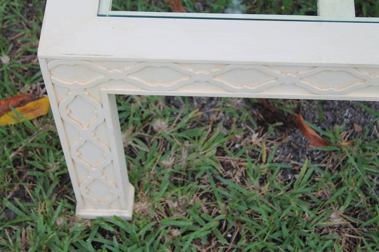 Thomasville Fretwork Fret Work Table Chinese Chippendale Coffee Cocktail  In Good Condition For Sale In West Palm Beach, FL