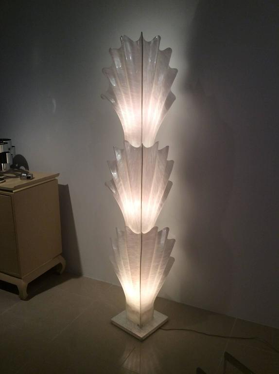 Rougier Seashell Shell Monumental Vintage Floor Lamp