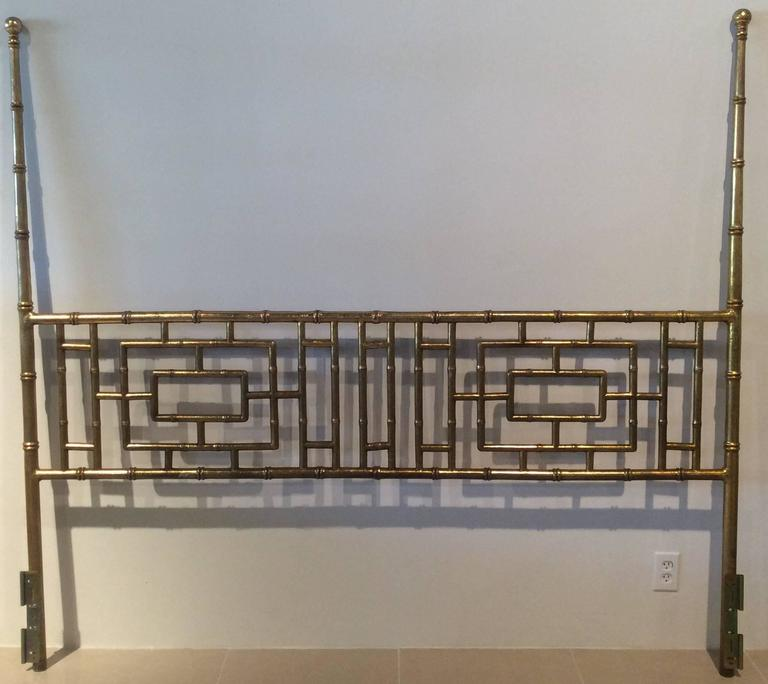 Faux Bamboo Chinese Chippendale Vintage King Size