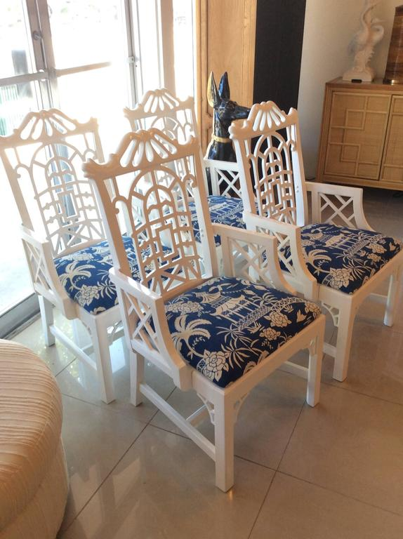 Pagoda Arm Dining Chairs Lacquered American of Martinsville ...