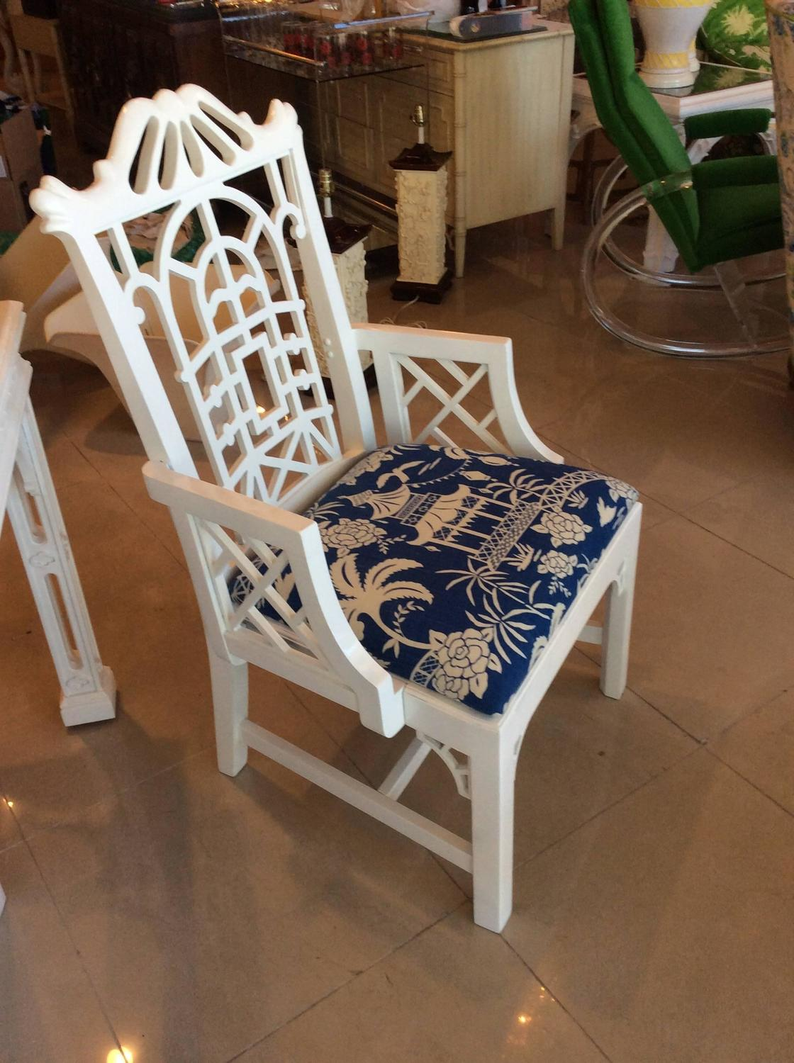 Navy Dining Chairs With Arms