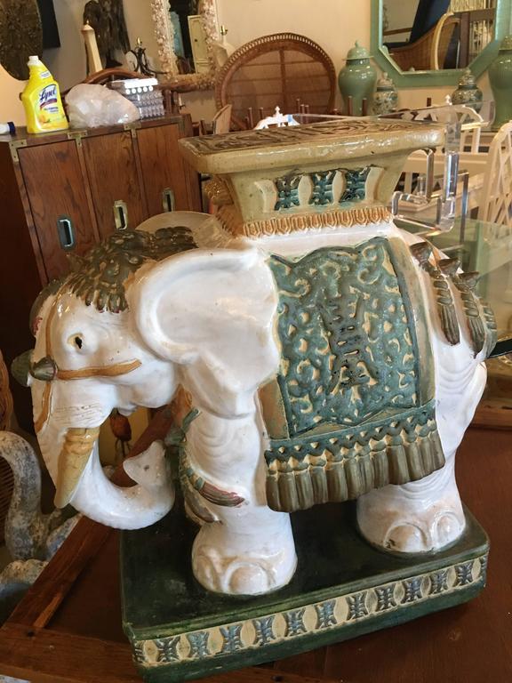 Sold Ceramic Elephant Garden Stools