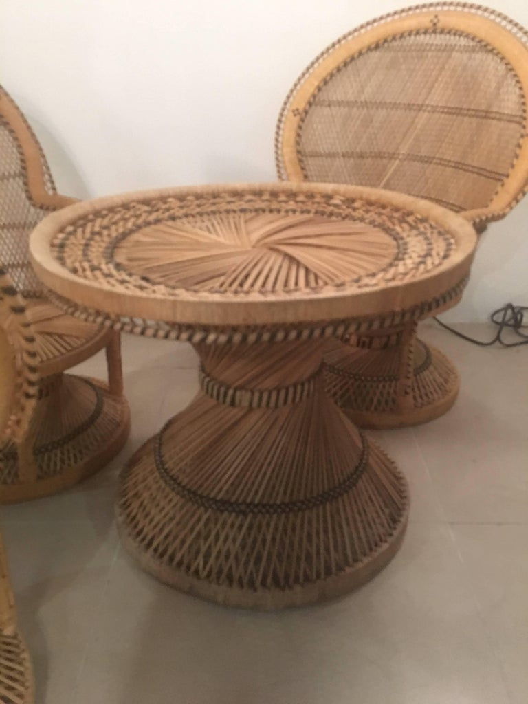 Rattan Wicker Children S Dining Table And Chair Set For
