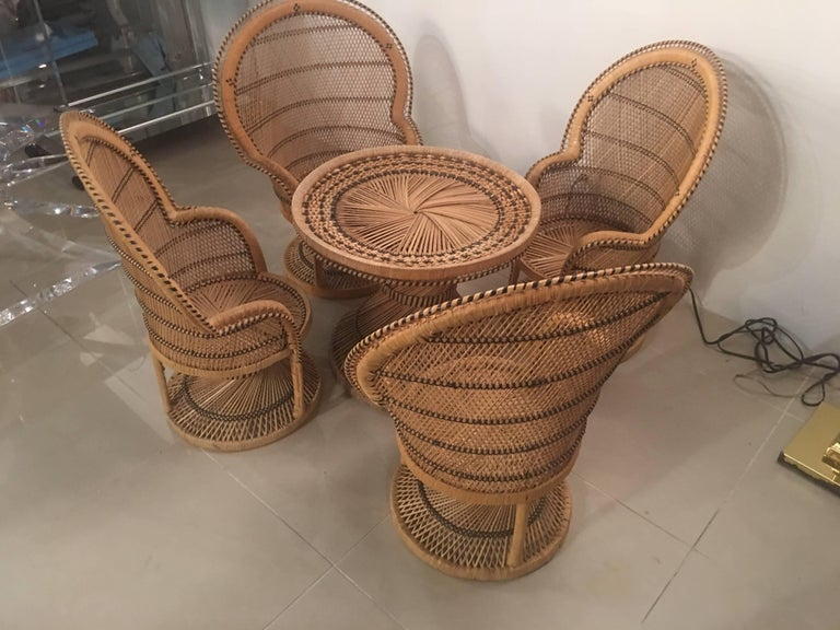 Stupendous Rattan Wicker Childrens Dining Table And Chair Set Beatyapartments Chair Design Images Beatyapartmentscom