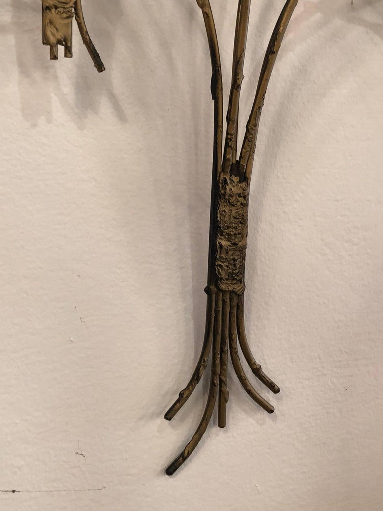 Vintage Metal Tree Wall Art Sculpture Mid-Century Modern In Good Condition For Sale In West Palm Beach, FL