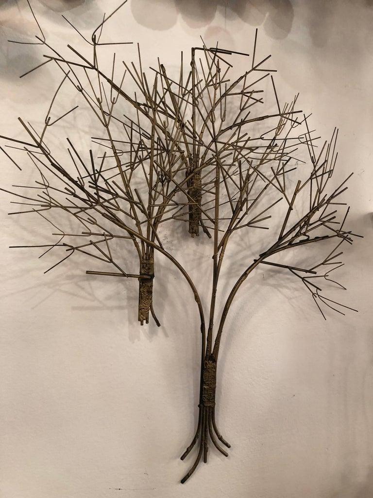 Mid-20th Century Vintage Metal Tree Wall Art Sculpture Mid-Century Modern For Sale
