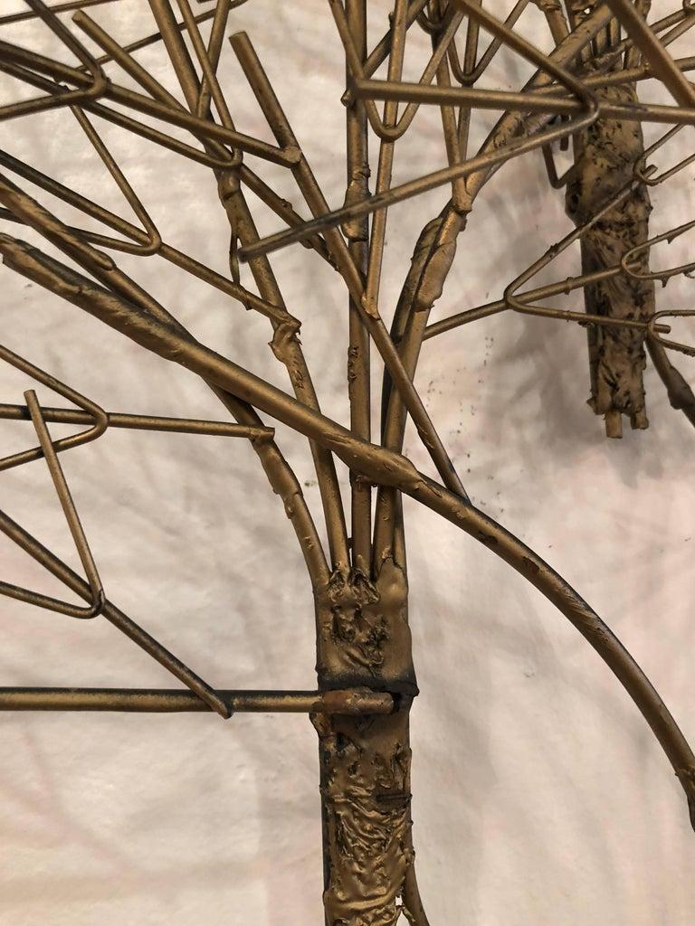 Vintage Metal Tree Wall Art Sculpture Mid-Century Modern For Sale 4