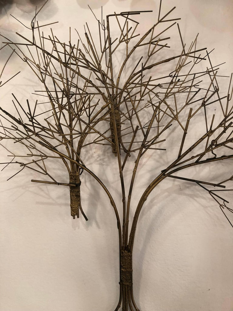 Vintage Metal Tree Wall Art Sculpture Mid-Century Modern For Sale 3