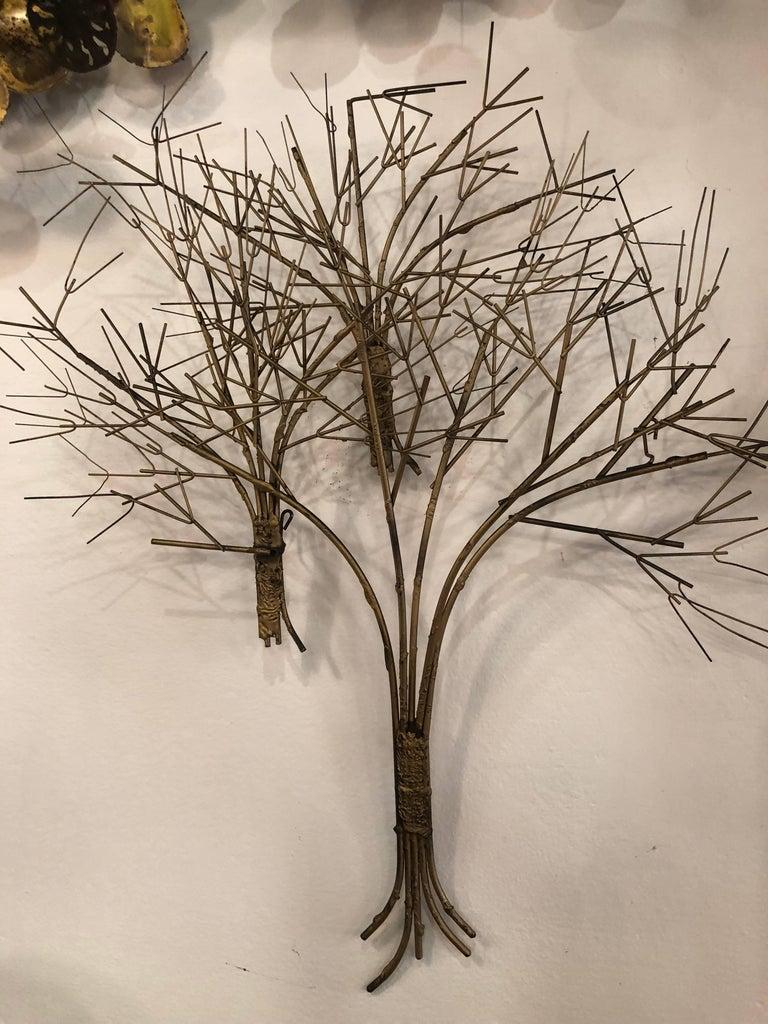 Vintage Metal Tree Wall Art Sculpture Mid-Century Modern For Sale 2