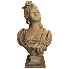"Reproduction Bust of an Aristocratic French Woman of the 1800""s"