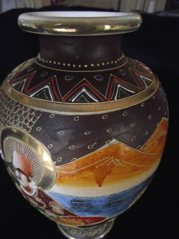 Antique Satsuma Vase Japanese Vase At 1stdibs