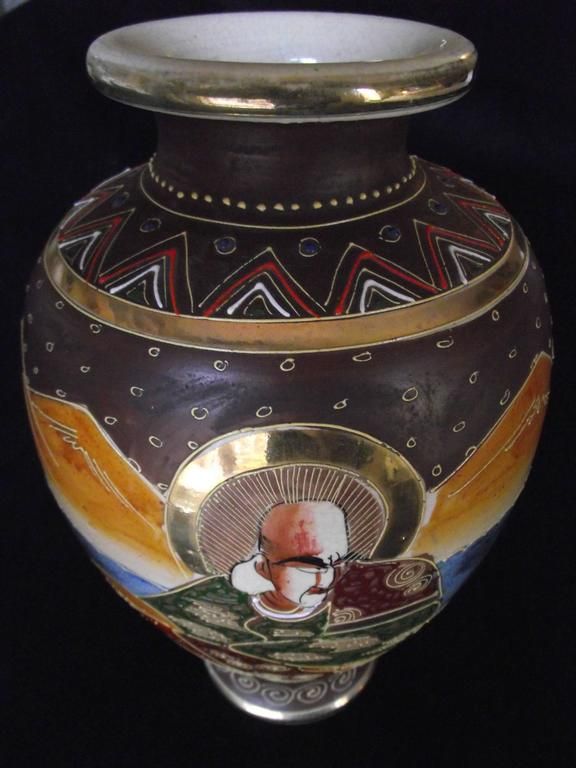 Antique Satsuma Vase Japanese Vase At 1stdibs