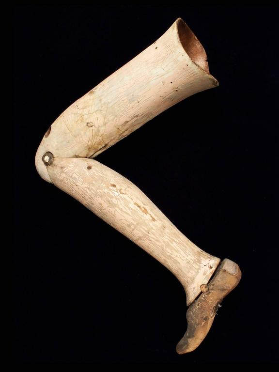 Early 20th Century Wood Prosthetic Leg For Sale At 1stdibs
