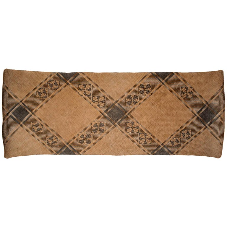 Mid-20th Century Tribal Sleeping Mat, Dayak, Punan People, Kalimantan, Borneo