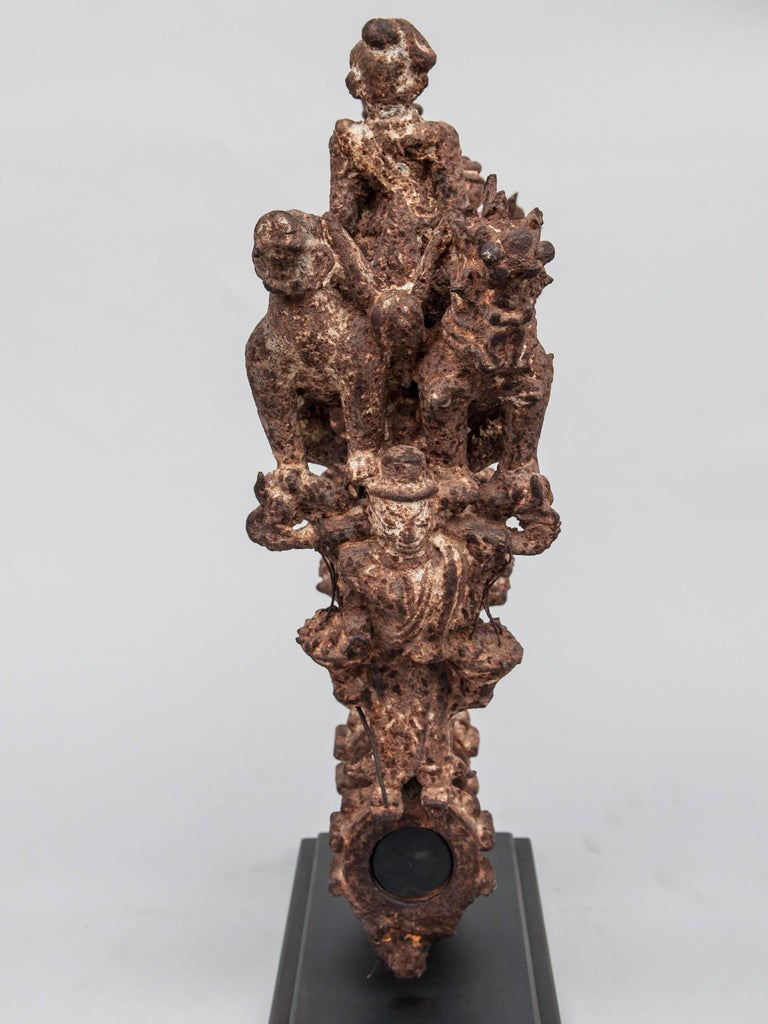 Cast Iron Temple Bell Holding Bracket from Burma, Late 19th-Early 20th Century For Sale 2
