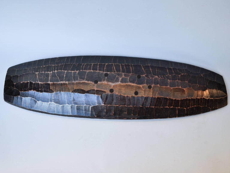 Tribal Hand Hewn Wooden Tray from the Mentawai Islands, Mid-Late 20th Century. For Sale 5