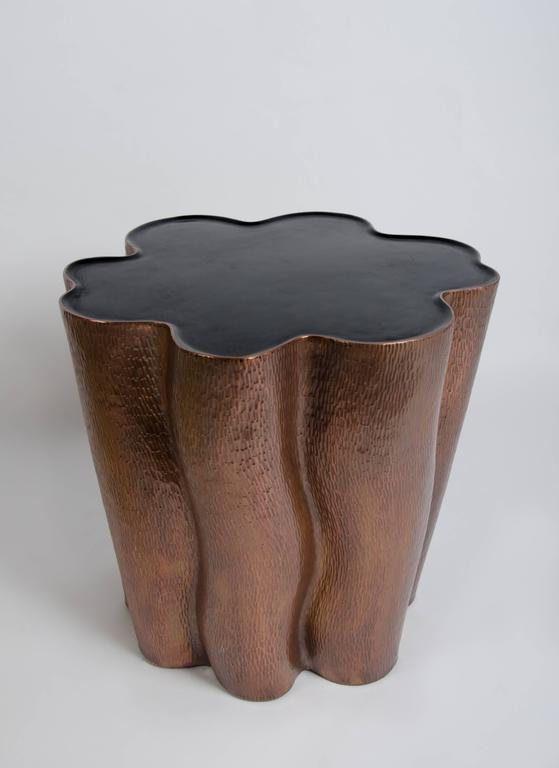 Ji Guan Hua Side Table Copper Black Lacquer Limited