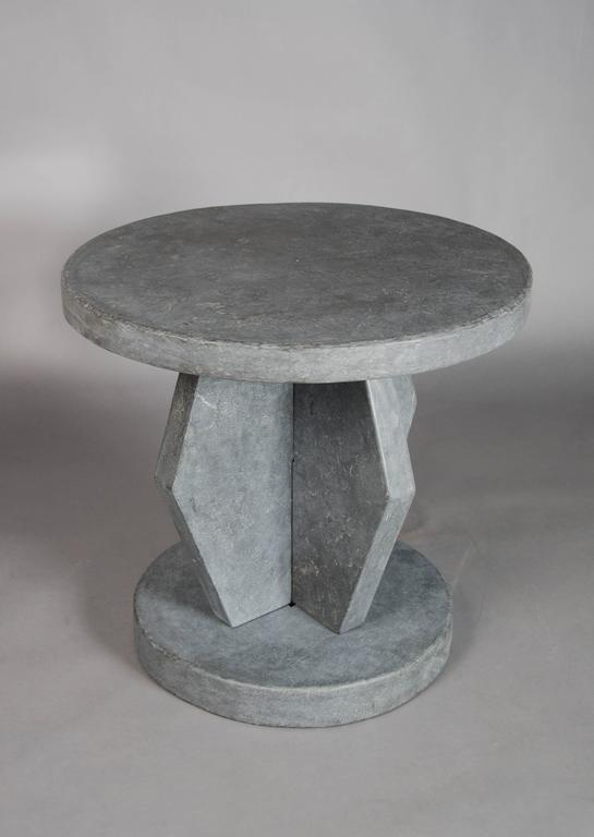 Brancusi Design Table Black Stone (Qing Shi)  Hand Carved Limited Edition Stone Varies