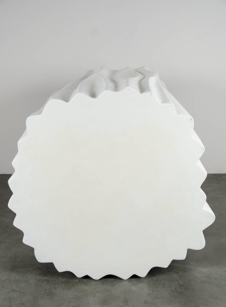 The Tree Trunk Pot Large, Cream Lacquer by Robert Kuo, Limited Edition In New Condition For Sale In West Hollywood, CA