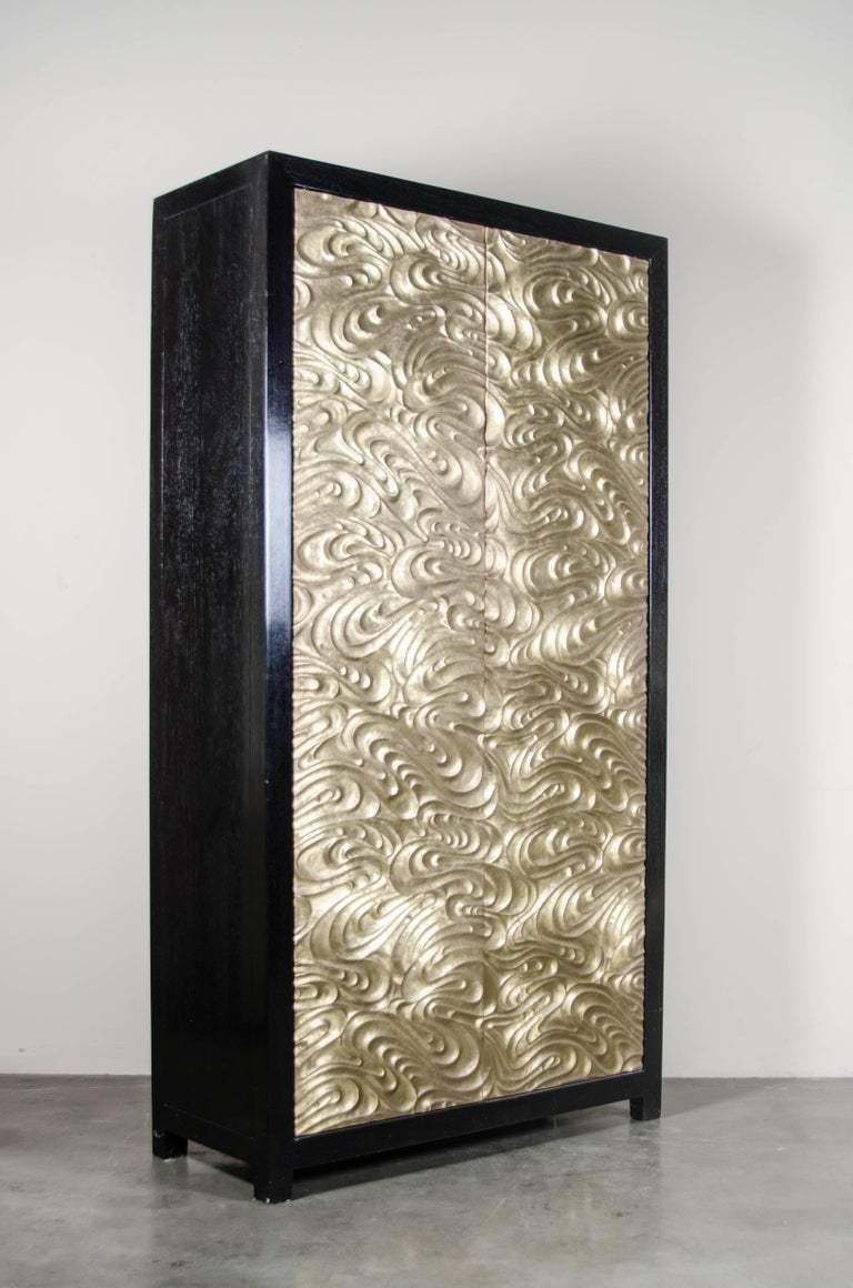 Tall cabinet with Da Fei Tian Wen doors