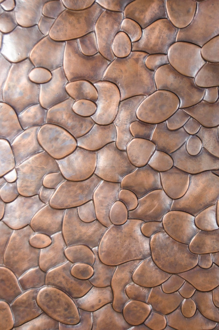 Repoussé Isola Design Armoire, Copper by Robert Kuo, Limited Edition For Sale