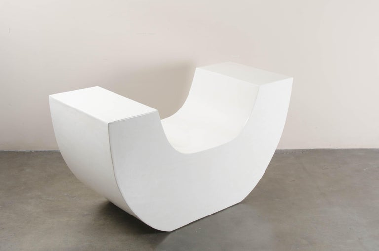 Huang Chair, Cream Lacquer by Robert Kuo, Limited Edition In New Condition For Sale In West Hollywood, CA