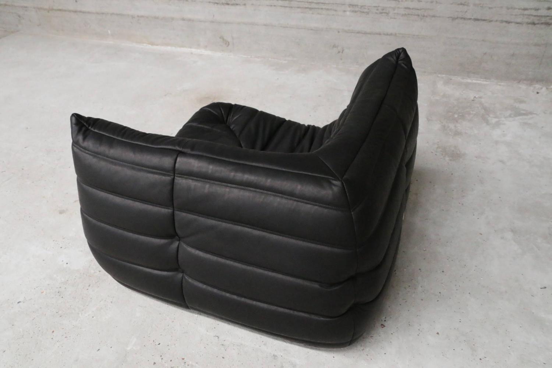 extra large vintage leather togo sofa set michel ducaroy