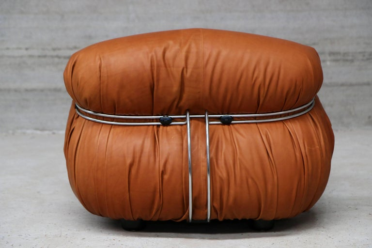 Pair of Soriana Lounge Chairs by Tobia Scarpa and Edited by Cassina For Sale 1